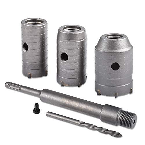 HOHXEN 30 40 50mm SDS Plus Shank Carbide Tip Hole Saw Drill Bit + Shaft Cutter Wall Drill For Brick Stone Concrete Cement