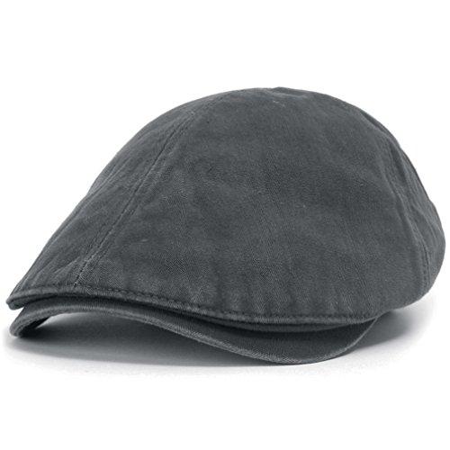 3df8411926463 ililily Washed Cotton Flat Cap Cabbie Hat Gatsby Ivy Irish Hunting Newsboy  Stretch