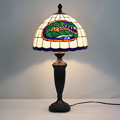 12-inch NCAA Florida Gators Stained Glass Table Lamp