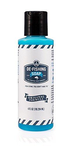 De-Fishing Soap - Eliminates Fishy Odors Guaranteed - All Natural Essential Oils Hand Soap - 4 Fluid Ounces - Liquid Original Formula