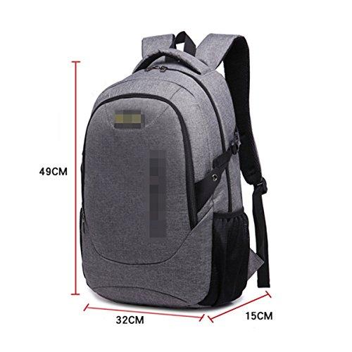 Große Kapazität Student Taschen College Wind Freizeit Reisen Computer-Pakete Kurz Outdoor Rucksack,Grey Blue