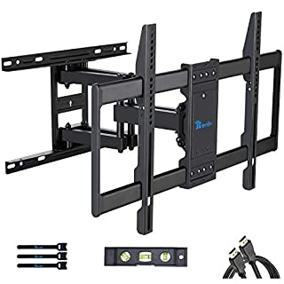 RENTLIV TV Mount Full Motion with Articulating Arms for 37-70 inch Flat Curved Screen LED 4K TVs, Tilt Swivel Rotation TV Wall Mounts TV Bracket with Max VESA 600x400mm