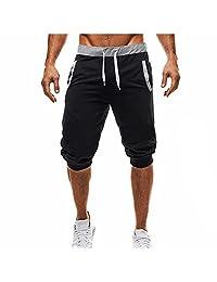 Mens Baggy Jogger Casual Slim Harem Short Pants Casual Cotton Trousers Shorts