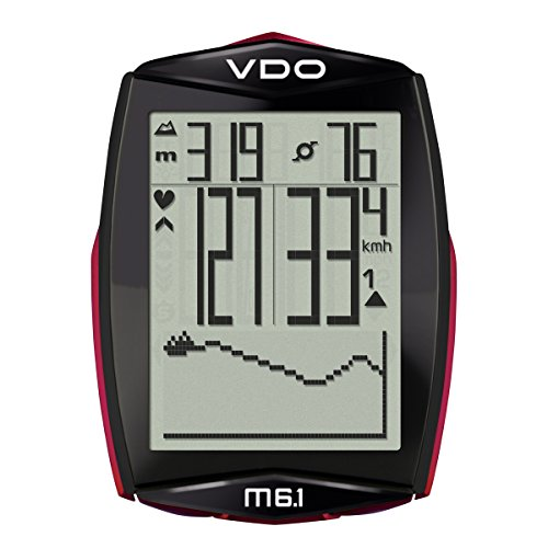 VDO M6.1 Digital Wireless Cadence and Heart Rate Black Bicycles Bike Cyclocomputer (Vdo Bike Computer)