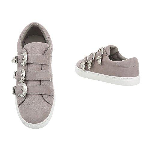 Grau 2306 da Scarpe Ital Sneaker Low Design Sneakers Donna Piatto yzBzPHp8qc