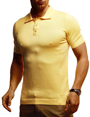 Leif Nelson Herren Basic Poloshirts Sommer T-Shirt Polo Shirts Slim Fit aus Feinstrick Cooles weißes schwarzes Männer Polo-Shirts Jungen Kurzarmshirt Kurzarm LN7400