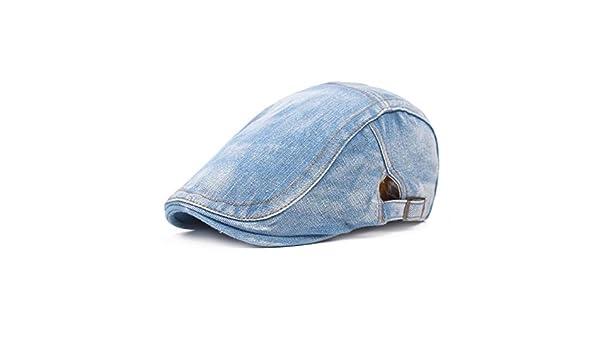HHpcspc Gorro de Mezclilla Lavado para Mujer Sombrero de Boina Sombrero para el Sol Simple para Hombre Sombrero para el Sol Sombrero Retro (Color : Light Blue): Amazon.es: Deportes y aire libre