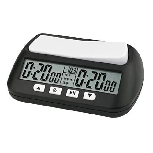 Injoyo Temporizador de Cuenta Atrás Reloj de Alta Precisión Cronómetro para Ajedrez Juego Competitivos