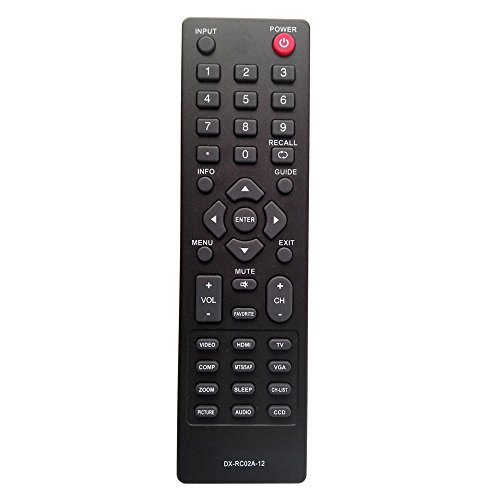 ZdalaMit DX-RC02A-12 Replace TV Remote Control For Dynex DX-40L130A11 DX-32L151A11 DX-55L150A11 DX-15L150A11 DX-40L150A11 DX-46L150A11 DX-24E150A11 DX-26L100A13 DX-32L220A12 DX-32E250A12 DX-37L200A12