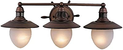 Amazon design house 520320 kimball 3 light vanity light bronze vaxcel vl25503rc orleans 3 light vanity light antique red copper finish mozeypictures Images