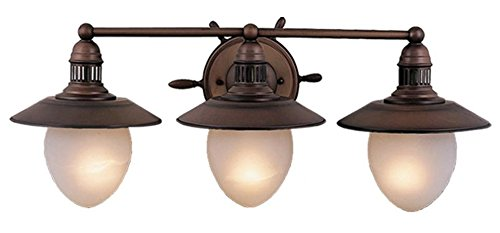 Vaxcel VL25503RC Orleans 3 Light Vanity Light, Antique Red Copper Finish Copper Bathroom Vanity Light