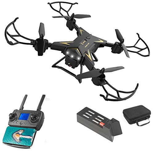 Lanmei Foldable RC Drone KY601G with 4K Camera, 6-Axis Stable Fly | GPS Position | WIFI Control | One-key Turn Back, for…