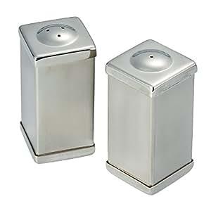 Elegance 2-3/4-Inch Stainless Steel Salt And Pepper Shaker Set