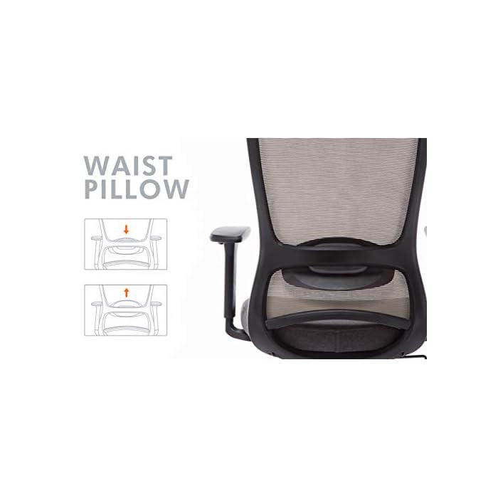 417U8httXUL ✔ Respaldo Ergonómico: El diseño de malla hace que el respaldo de silla sea transpirable, es más conveniente para usar en verano. La silla ergonómica de oficina con soporte lumbar, reposabrazos ajustables y reposacabeza para hacerle disfrutar más después del trabajo. ✔ Asiento Transpirable: El asiento acolchado es grueso y tiene buena elasticidad. Hecho de esponja gruesa de alta calidad y malla transpirable. No hace que el cuerpo se siente caliente, mantenga sus nalgas y piernas libres de sudor. ✔ Múltiples Ajustes: Los controles neumáticos facilitan subir o bajar el asiento, a través de sacar el asa puede realizar el modo de giro, puede inclinar el respaldo conjunto con asiento por pequeño ángulo, los brazos de 3D son ajustables con la altura, además puede realizar el ajuste de poco ángulo de dirección paralela.