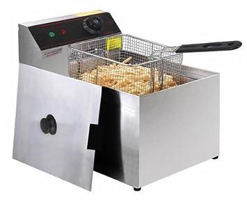 2500 W freidora eléctrica comercial de mesa restaurante sartén w/cesta Scoop by unbrand: Amazon.es: Hogar