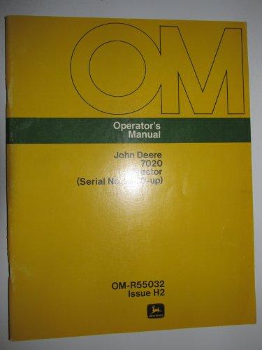 John Deere 7020 (s/n 2700 & Up) Tractor Operators Owners Manual Original