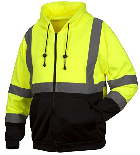 Rugged Outfitters Thermal Lined Hi-VIS Full Zip Sweatshirt Style 70794 (Safety Green, Large) ()