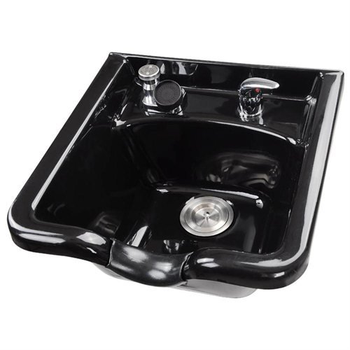Koval Inc. Shampoo Basin Bowl with Faucet Neck Rest Hair Trap