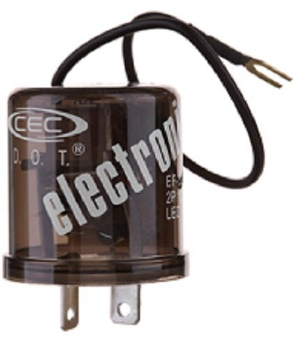 CEC Industries EF32RL Electronic Turn Signal Flasher Relay, LED Compatible, 2 + Ground Wire Prongs, 12 Volts