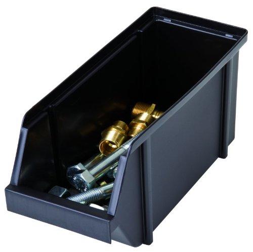Flambeau 6566BK Large Storage Bin, 4 Liter Bin, Black by Flambeau