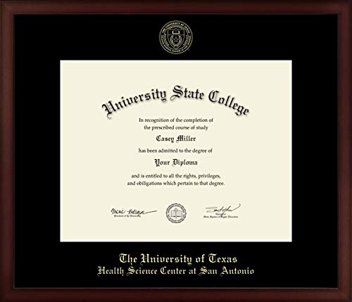 - UT Health Science Center at San Antonio - Officially Licensed - Gold Embossed Diploma Frame - Diploma Size 14