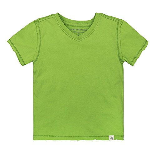 - Burt's Bees Baby Boys' T-Shirt, Short Sleeve V-Neck and Crewneck Tees, 100% Organic Cotton, Lime, 0-3 Months