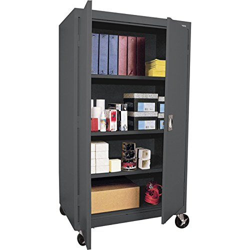 Sandusky Lee TA3R362460-02 Transport Series Mobile Storage Cabinet, Charcoal (Steel Mobile Cabinet)