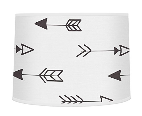 Sweet JoJo Designs Arrow Print Boys Or Girls Baby Childrens Lamp Shade for Black and White Fox Collection (Shade Lamp Baby Boy)