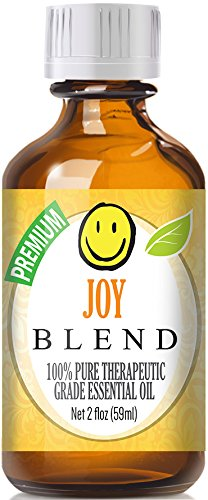 Joy Blend 100% Pure, Best Therapeutic Grade Essential Oil - 60ml / 2 (oz) Ounces - Bergamot, Ylang Ylang, Lemon, Tangerine, Palmarosa, Jasmine