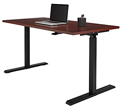 Realspace Magellan Pneumatic Stand Up Height-Adjustable Desk, Classic Cherry