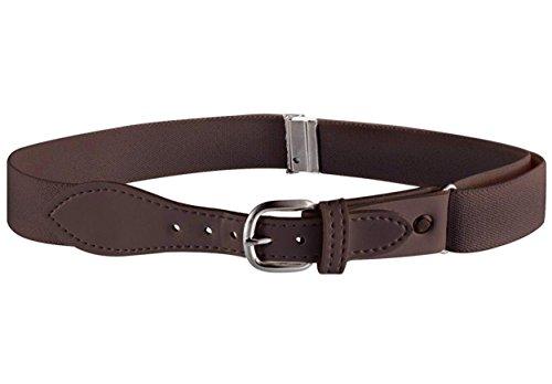 Buyless Fashion Kids Girls Elastic Adjustable Stretch Belt with Leather Closure - KBLT100-Brown