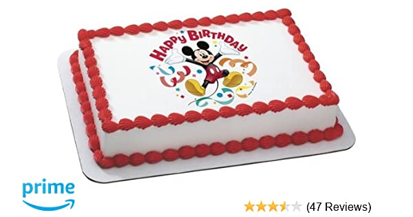 Amazon Whimsical Practicality Mickey Mouse Clubhouse Streamers Edible Cake Topper Decoration Sheet Measures 85x105 Inchs Mixed Toys Games