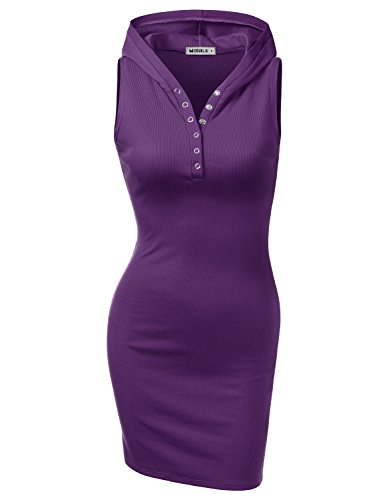 Women'sPullover Keen Length Slim Sweatshirt Causal Hoodie Dress