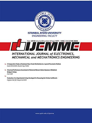 iJEMME: International Journal of Electronics, Mechanical and Mechatronics  Engineering (2018 Vol 8 no Book 3) (International Journal Of Mechanical & Mechatronics Engineering)