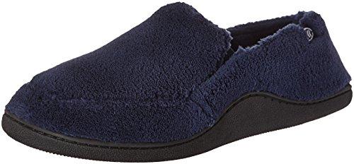 Isotoner Men's Microterry Slip On Slippers,  Medium,  Navy