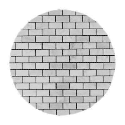 Carrara Marble Italian White Bianco Carrera Mini Brick Mosaic Tile Polished -