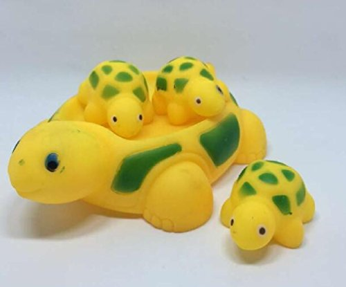 4Pcs/set Baby Bath Toys Cute Bathing Classic Water Toy Rubber Race Animal