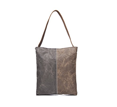 Tom Clovers Women's Men's Casual Canvas Tote Weekend Bag Handbag Shopping Bag Khaki Bb-2247-2