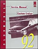 1992 Oldsmobile Custom Cruiser Repair Shop Manual Original