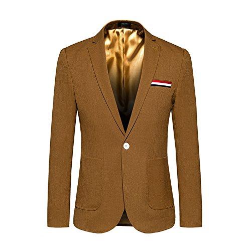 Sndofej größe Mantel männer pflegen einen knopf Farbe, größe Anzug koreanisch,tief Khaki - Farben,The