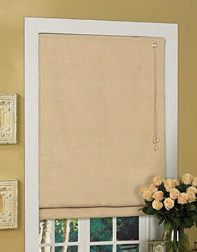 Lewis Hyman 1476331 Thermal Fabric Roman Shade, 36-Inch Wide by 64-Inch Long, Latte