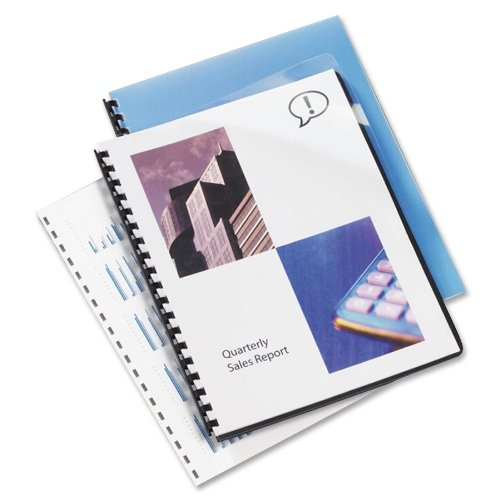 Pre Punched Binding Covers - Swingline GBC 2020024 Clear View Presentation Binding System Cover, 11-1/4 x 8-3/4, Clear (Box of 100)