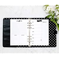 "A5 Weekly Organizer, This Week Pages for Filofax, 6 Ring Planner, Refill Pages, 5.8""x8.3"" (Notebook Not Included)"