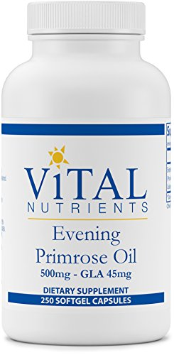 Borage Oil 250 Capsules (Vital Nutrients - Evening Primrose Oil 500 mg - Cold-Pressed Oil That Contains GLA, an Essential Omega-6 Fatty Acid - 250 Softgels)