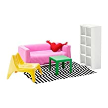 Ikea's HUSET Doll furniture, living room by Huset