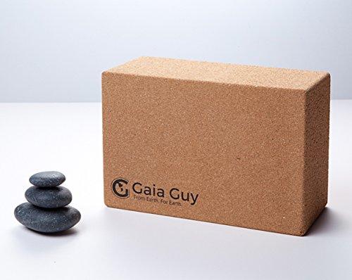 """100% Eco-Friendly - 2 Cork Yoga Blocks - 4"""" x 6"""" x 9"""" All Natural Cork - Sustainable Beautiful and Super Supportive for All Yoga Levels"""