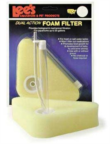 Lee's Triangle Dual-Action Foam Filter Fits up to 25-Gallon (Lees Sponge Filter)
