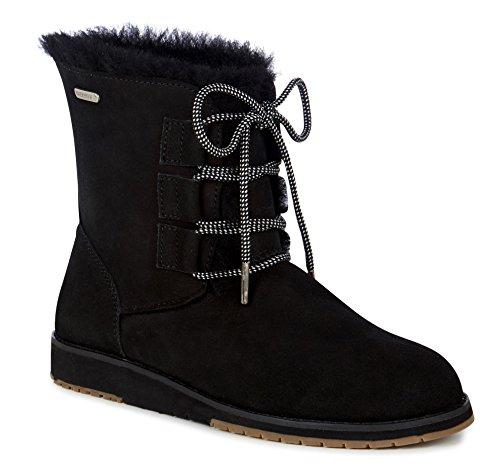 UK 5 Illawong Australia Collection Emu Black Beach Women's Sheepskin Boots W11657 w4zIIUPvxq