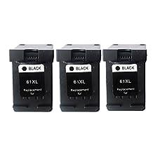 Karl Aiken Remanufactured HP 61 Ink Cartridge Black CH563WN for HP ENVY 4500 5530 4502 4504 Deskjet 2050 3050 2540 1050 1510 1000 1010 3050A 2542 2544 2510 3510 1512 OfficeJet 4630 2620 4632 Printers