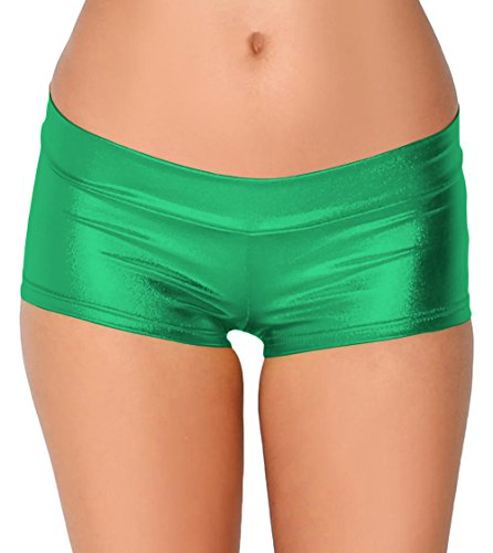 所持物理ルーチンSheface Women's Shiny Mini Pants Hot Shorts Dancewear